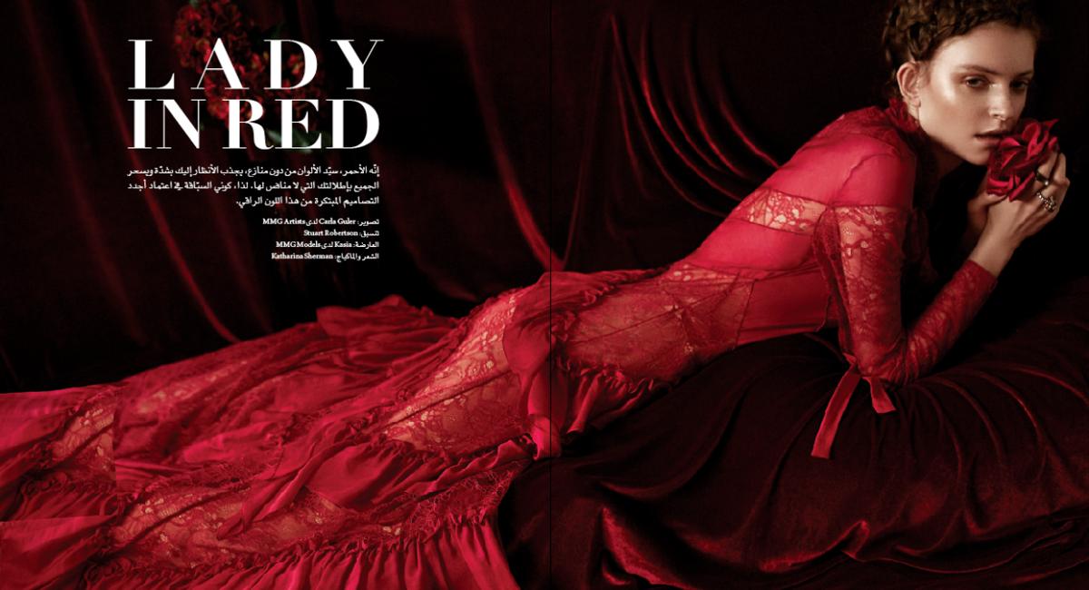 Carla Guler - Lady In Red - Haya Magazine